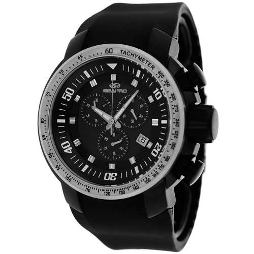 SP7121 Seapro Mens Imperial Black Band Black Dial