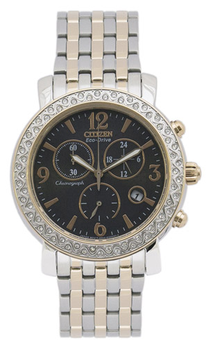FB1296-51H Citizen Womens Eco-Drive  Quartz Two-tone Band Grey Dial