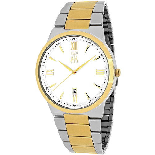 JV3512 Jivago Mens Clarity Two-tone silver gold tone Band Silver Dial