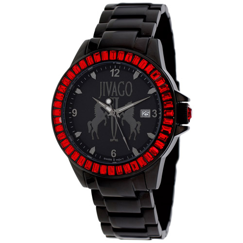 JV4216 Jivago Womens Folie Black Band Black Dial