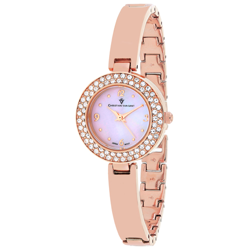 CV8614 Christian Van Sant Womens Palisades Rose gold Band Pink MOP Dial