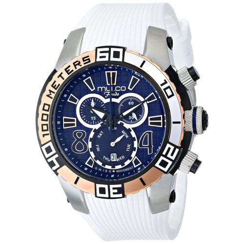 MW1-74197-014 Mulco Mens Fondo wheel White Band Blue Dial