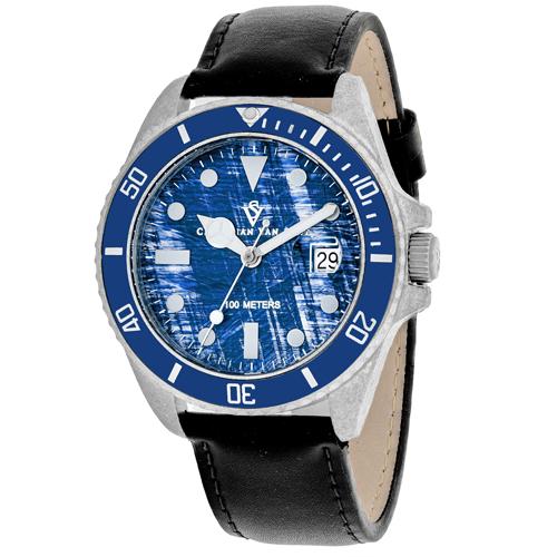 CV5103LB Christian Van Sant Mens Montego Vintage Black Band Blue Dial