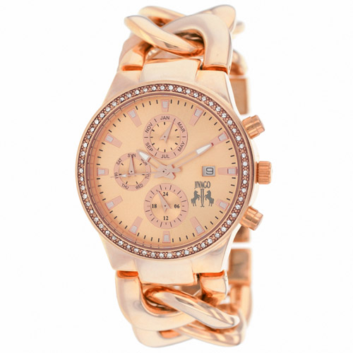 JV1227 Jivago Womens Lev Rose Gold Band Rose Gold Dial