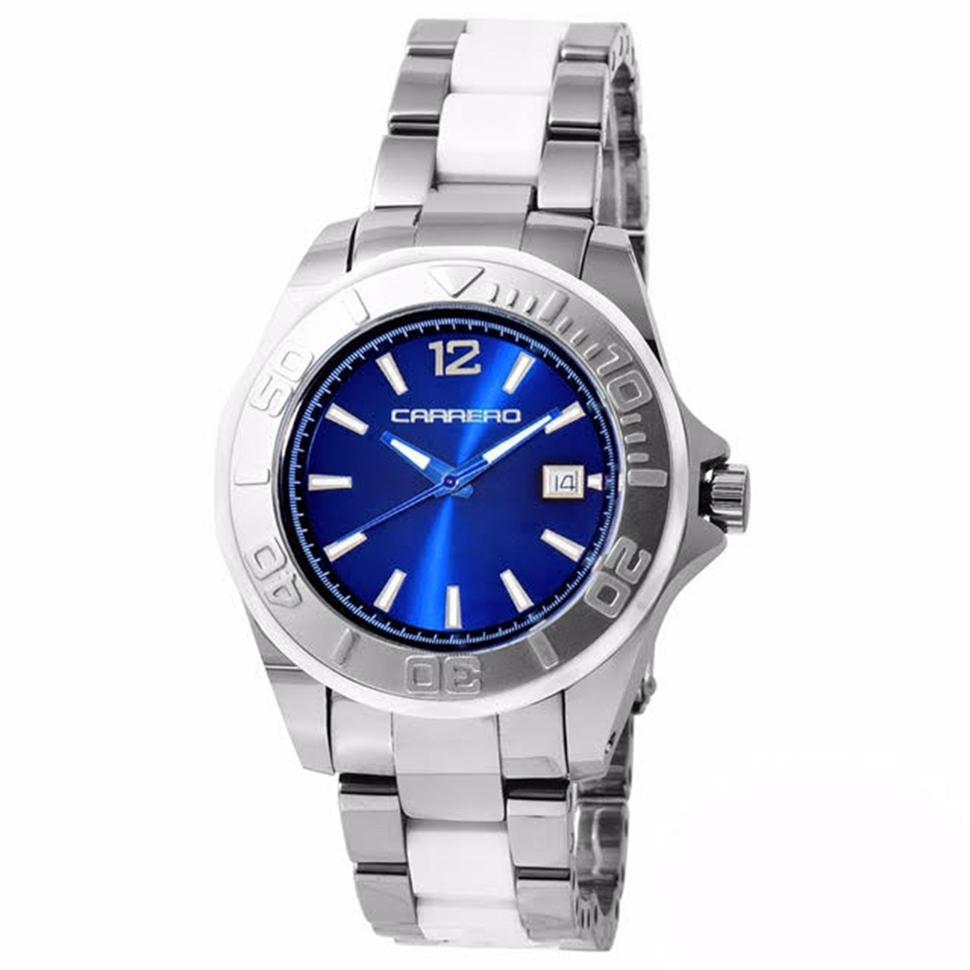 Carrero C015 Carrero Special Edition Tungsten/Ceramic Diver Two-Tone Blue Dial