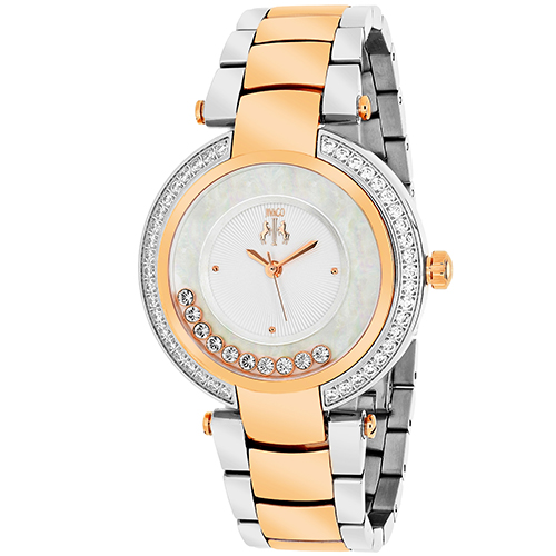JV1617 Jivago Womens Celebrate Two-tone rose gold silver Band Pink Dial