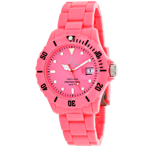 FL04PS Toywatch Womens Fluo Pink Band Pink Dial