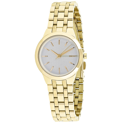NY2491 DKNY Womens Park Slope Quartz Gold Band Silver Dial