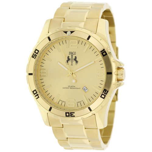JV6114 Jivago Mens Ultimate Gold Band Gold Dial