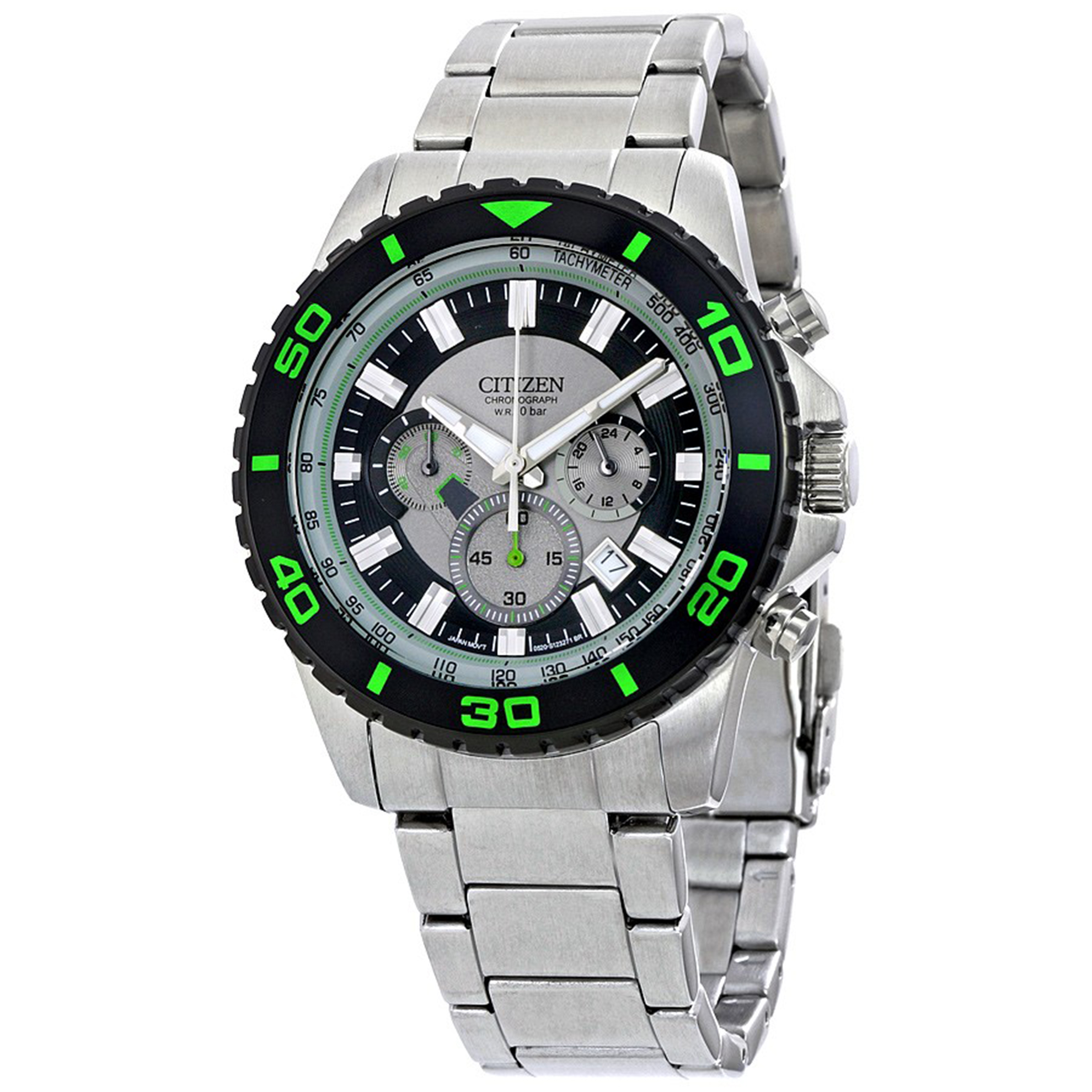Citizen AN8030-58G Citizen Men's Chronograph Stainless Steel Grey/Green