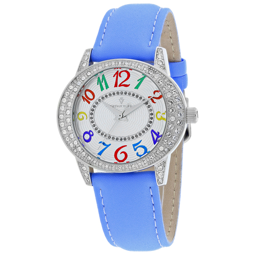 CV8414 Christian Van Sant Womens Sevilla Quartz Blue Band Silver Dial