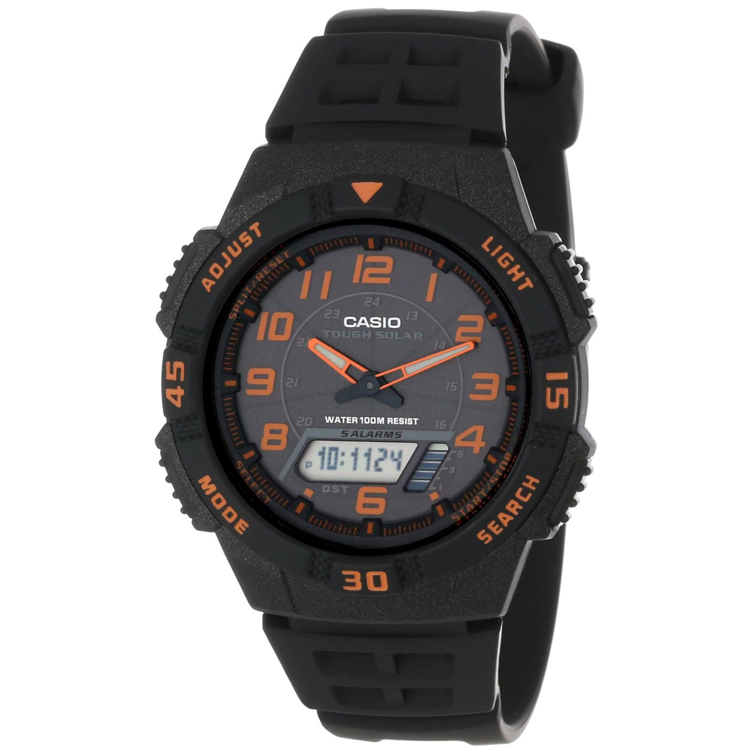 AQS-800W-1B2V Casio Mens Ana-digi Quartz Black Band Black Dial