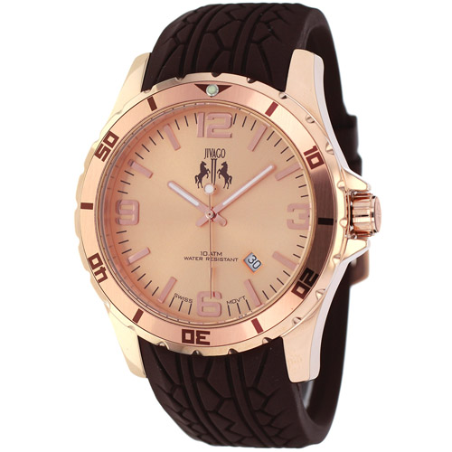 JV0112 Jivago Mens Ultimate Brown Band Rose gold tone Dial