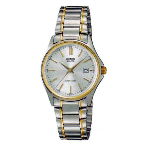 LTP-1183G-7A Casio Womens General Quartz Two-tone Band Silver Dial