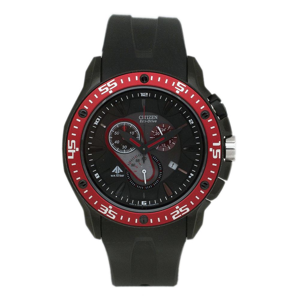 AT0709-08E Citizen Mens Eco-Drive Black Band Black Dial