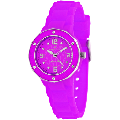 OC0438 Oceanaut Ladies Acqua Star Purple Rubber Strap
