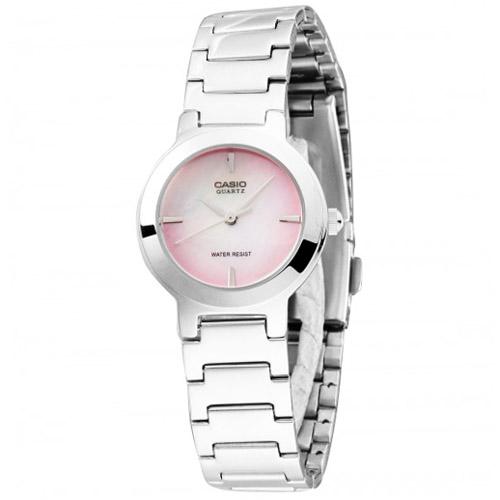 LTP-1191A-4C Casio Womens Classic Quartz Silver Band Pink Dial