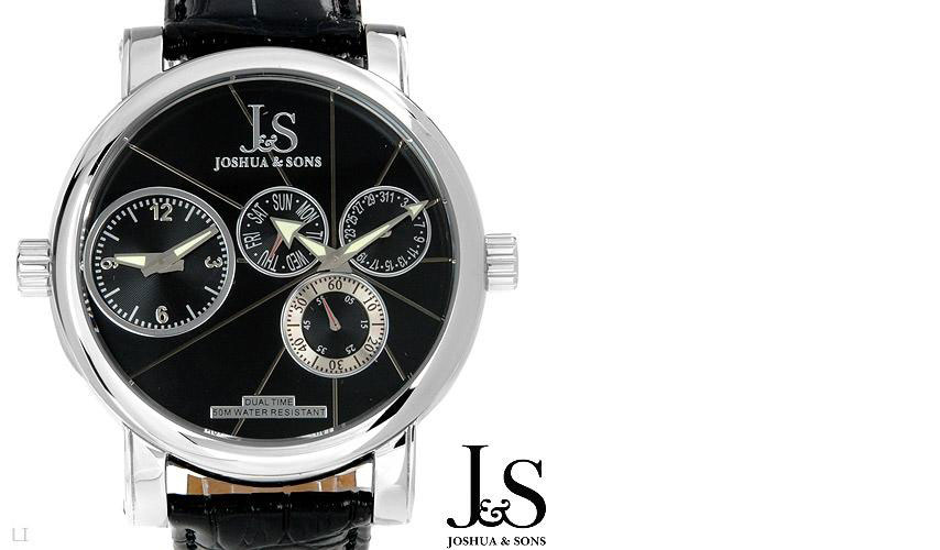 01234014/ JOSHUA and SONS JS-31-01 Brand New Gentlemens Day date Watch