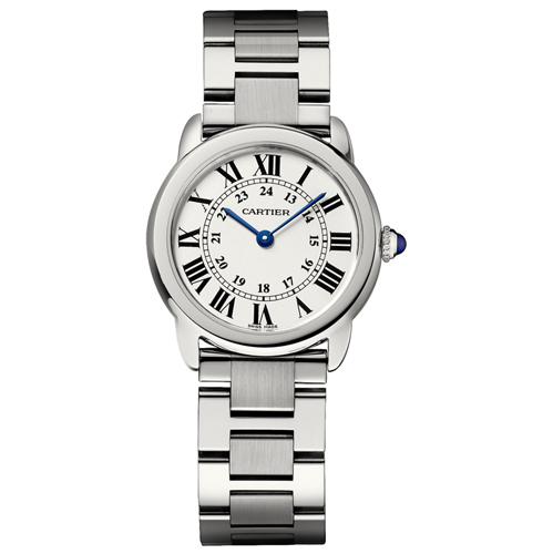 W6701004 Cartier Womens Rondo Solo W6701004 Silver Band Silver Dial