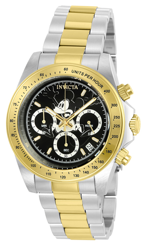 22866 Invicta Mens Disney Limited Edition  Steel, Gold Band Black Dial