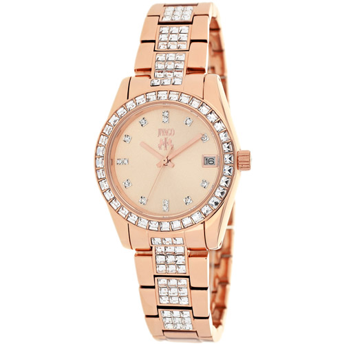 JV6412 Jivago Womens Magnifique Quartz Rose gold Band Rose Gold Dial