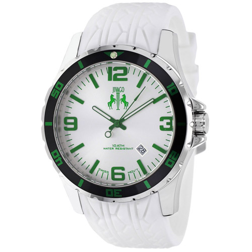 JV0116 Jivago Mens Ultimate White Band White Dial
