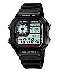 AE-1200WH-1AV Casio Mens Digital Quartz Black Band Digital Dial
