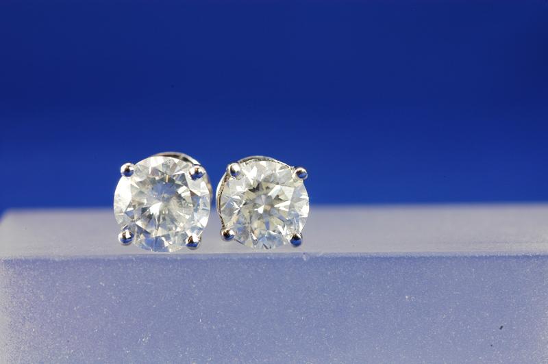 14K WG 1.30 CTTW DIAMOND SCREW-BACK STUD EARRINGS (HI/I)