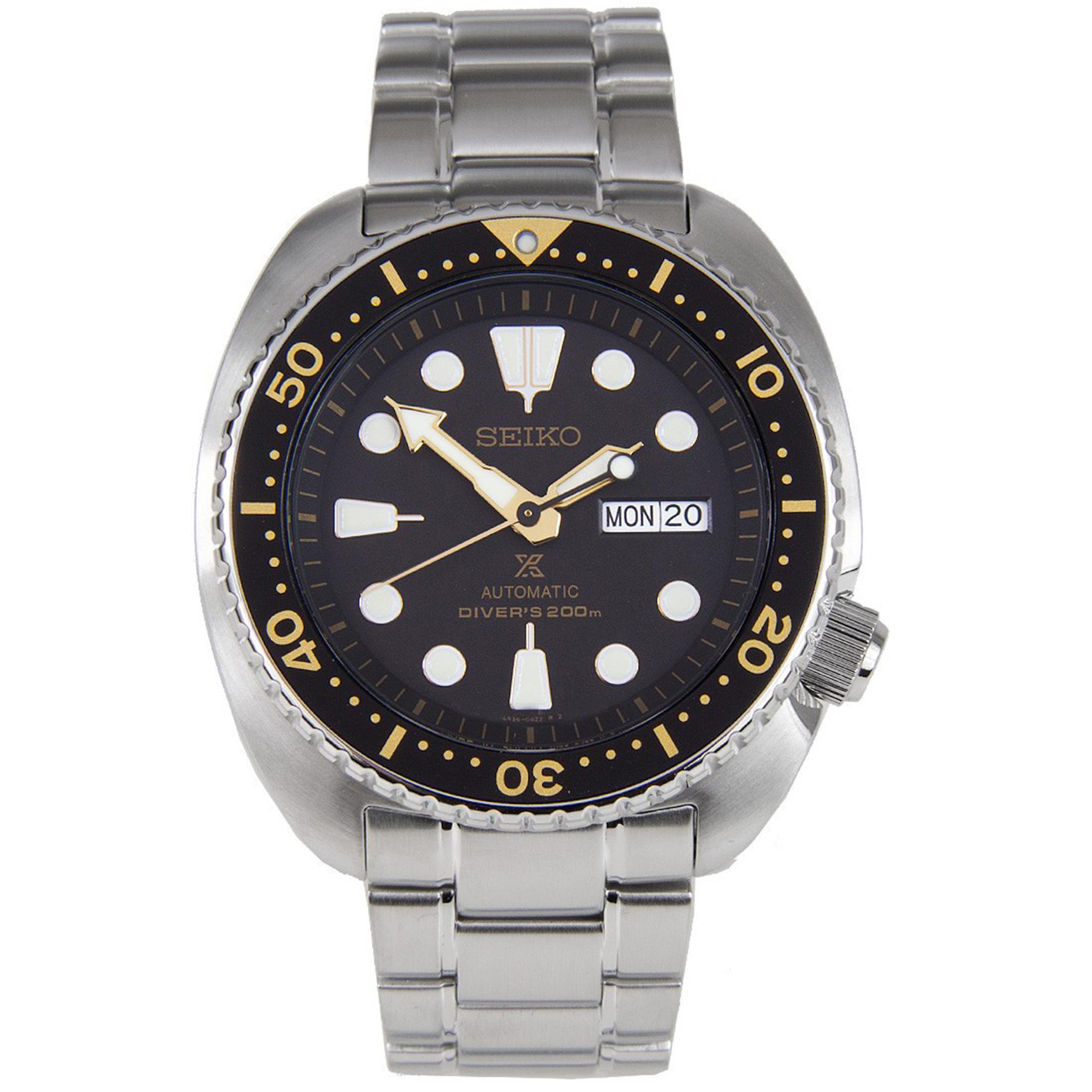 Seiko SRP775K1 Seiko Turtle Diver Automatic Stainless Steel Black Dial