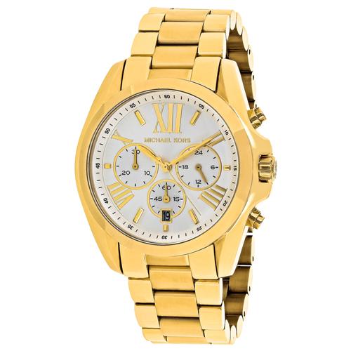 MK6266 Michael Kors Womens Bradshaw  Gold Band Silver Dial