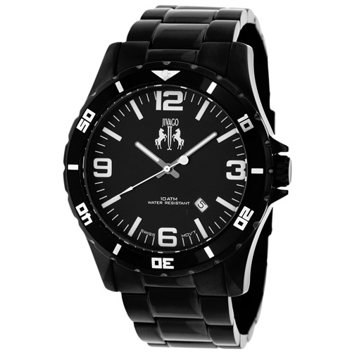 JV6110 Jivago Mens Ultimate Swiss  Quartz  Black Band Black Dial