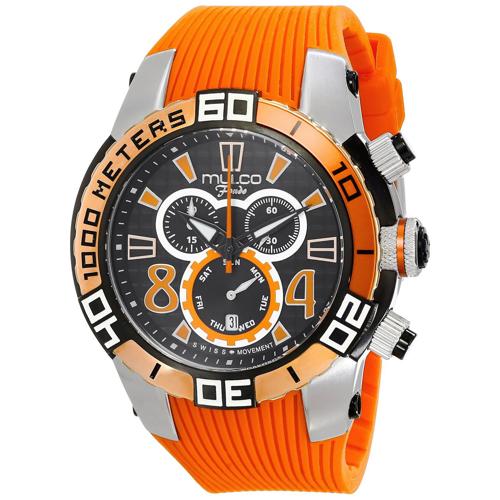 MW1-74197-615 Mulco Mens Fondo wheel Orange Band Black Dial