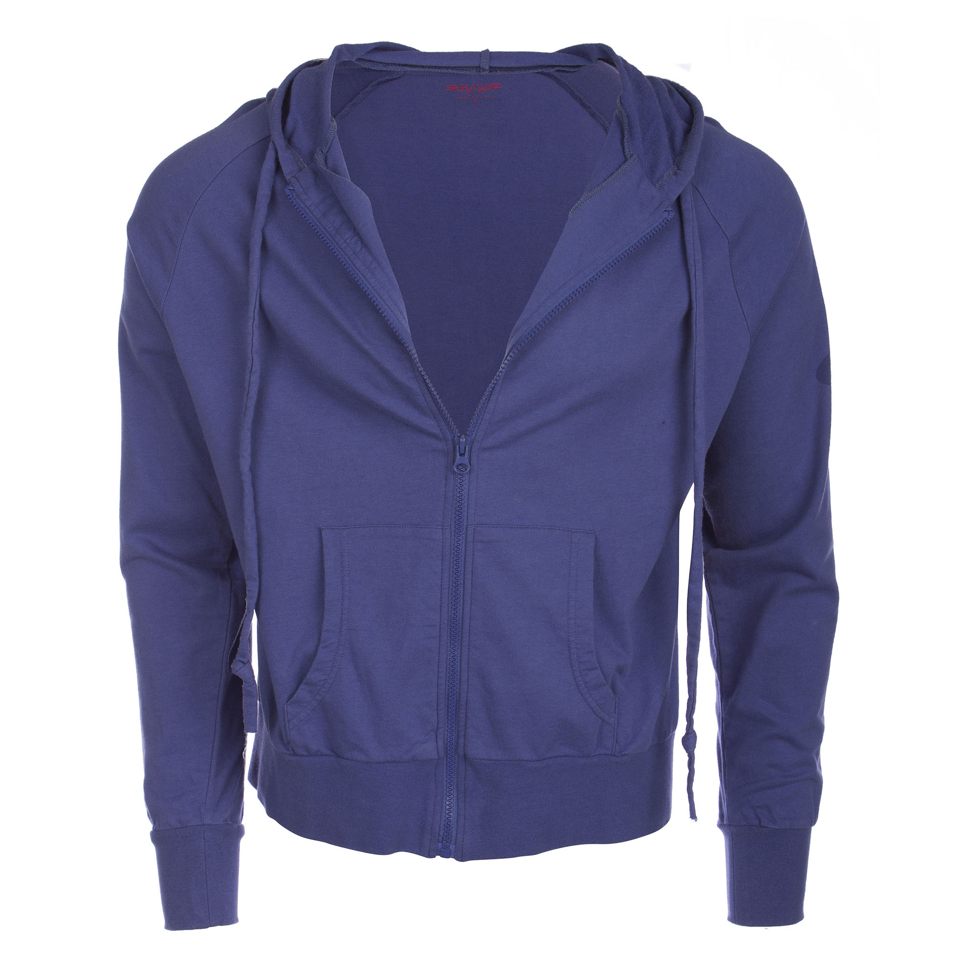 RAW 7 P09A05-WATER Raw7 Men's Blue Zip Hoodie with Chinese Symbol for Water