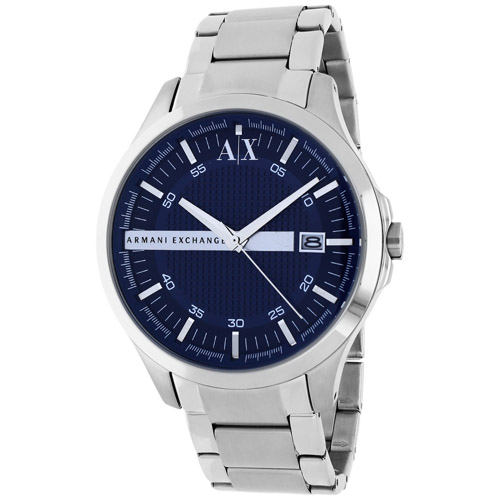 AX2132 Armani Exchange Mens Classic AX2132 Quartz Silver Band Blue Dial