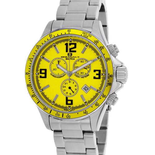 OC3324 Oceanaut Mens Baltica Silver Band Yellow Dial