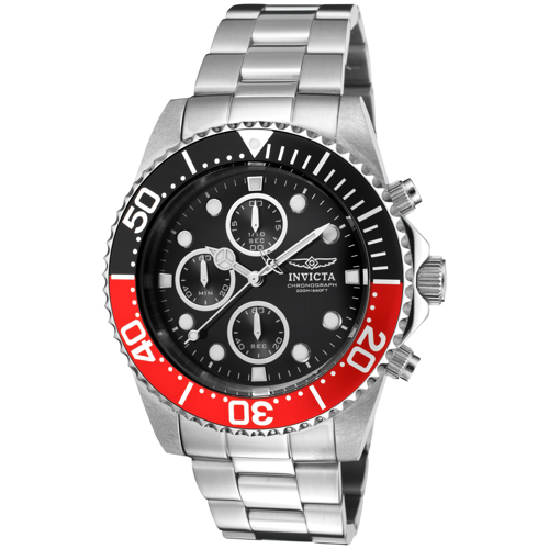 1770 Invicta Mens Pro Diver  Steel Band Black Dial