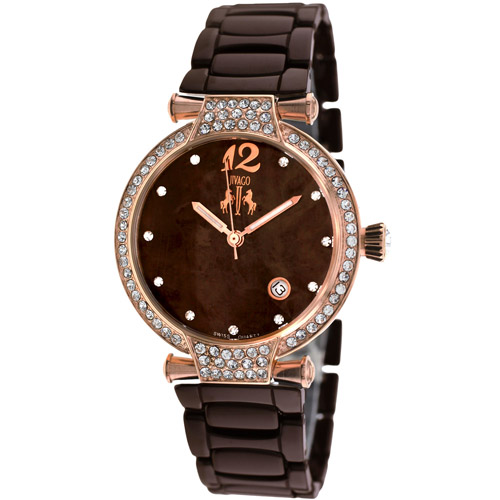 JV2212 Jivago Womens Bijoux Brown Band Brown MOP Dial