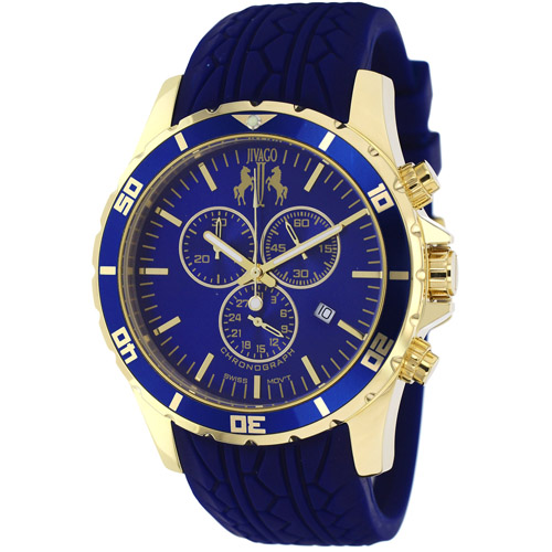 JV0123 Jivago Mens Ultimate Blue Band Blue Dial