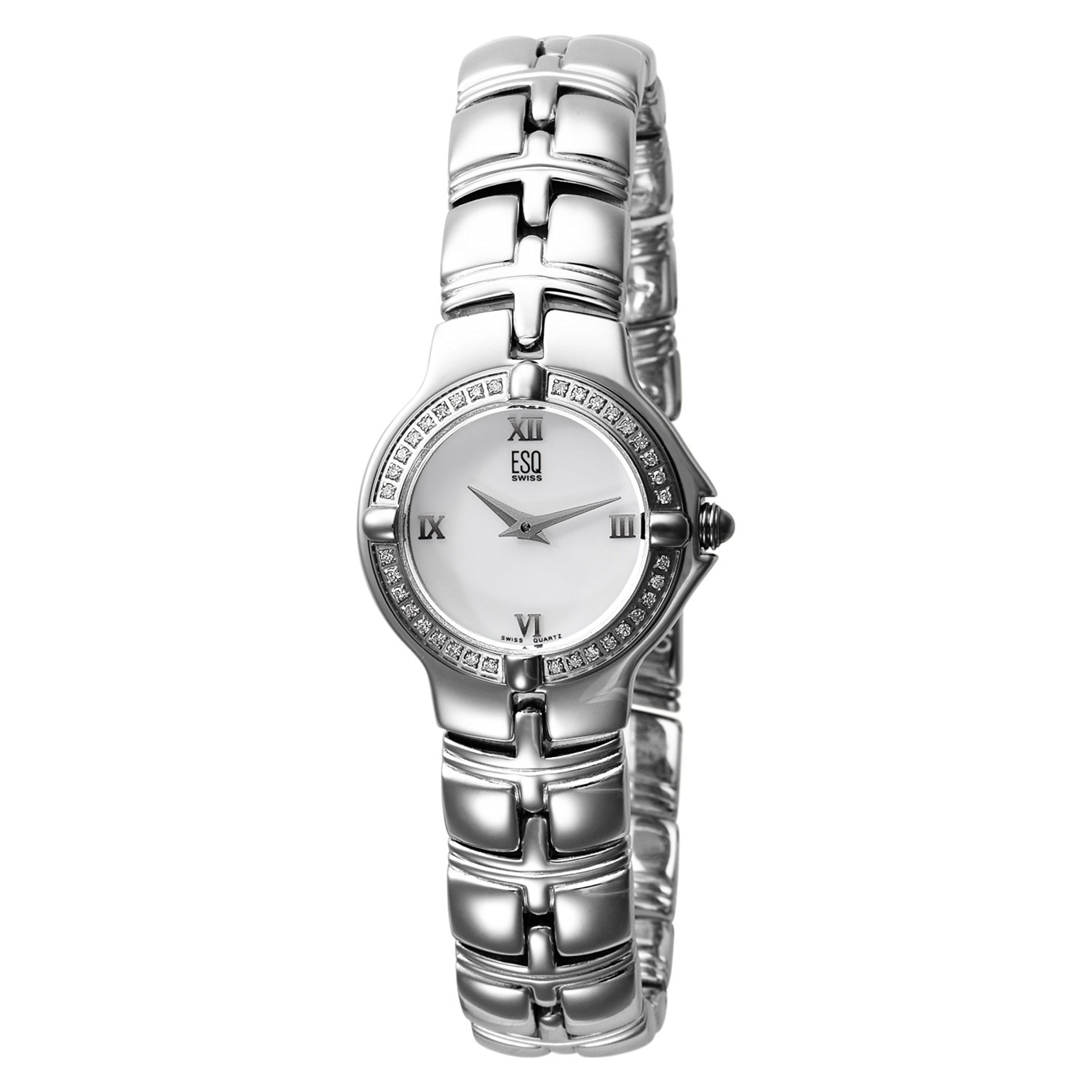ESQ by Movado 7101113 ESQ by Movado Ladies Diamond Muse Stainless Steel Mother of Pearl Dial