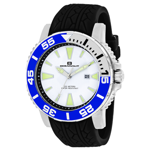 OC2917 Oceanaut Mens Marletta Black Band White Dial