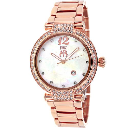 JV2218 Jivago Womens Bijoux Rose Gold Band White MOP Dial