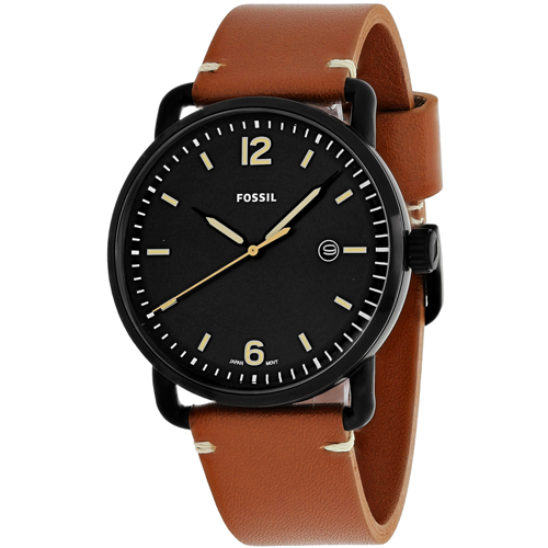 FS5276 Fossil Mens The Commuter Brown Band Black Dial