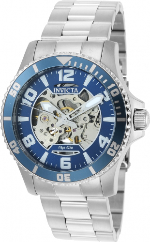 22603 Invicta Mens Objet D Art  Steel Band Blue Dial