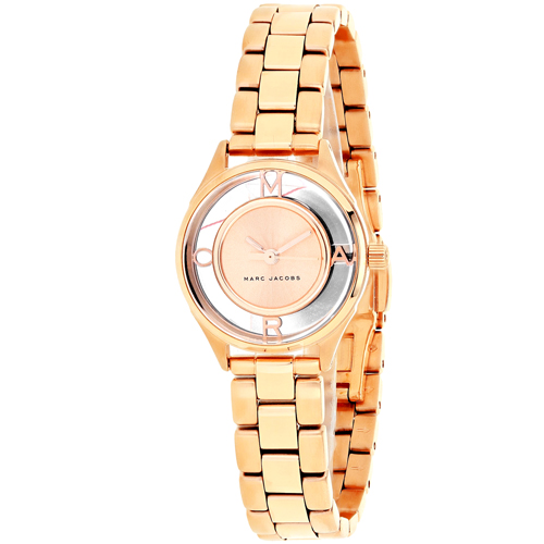 MJ3417 Marc Jacobs Womens Tether Rose gold Band Rose gold Dial