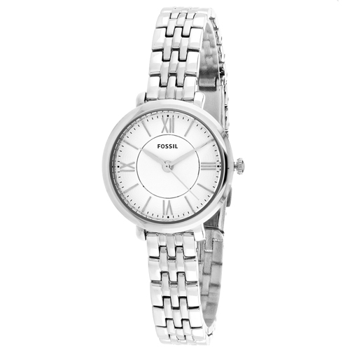 ES3797 Fossil Womens Jacqueline Silver Band Silver Dial
