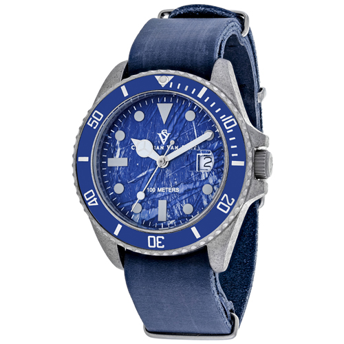 CV5203B Christian Van Sant Mens Montego Vintage Quartz Blue Band Blue Dial