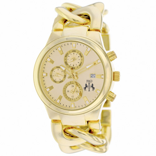 JV1222 Jivago Womens Lev Gold Band Gold Dial
