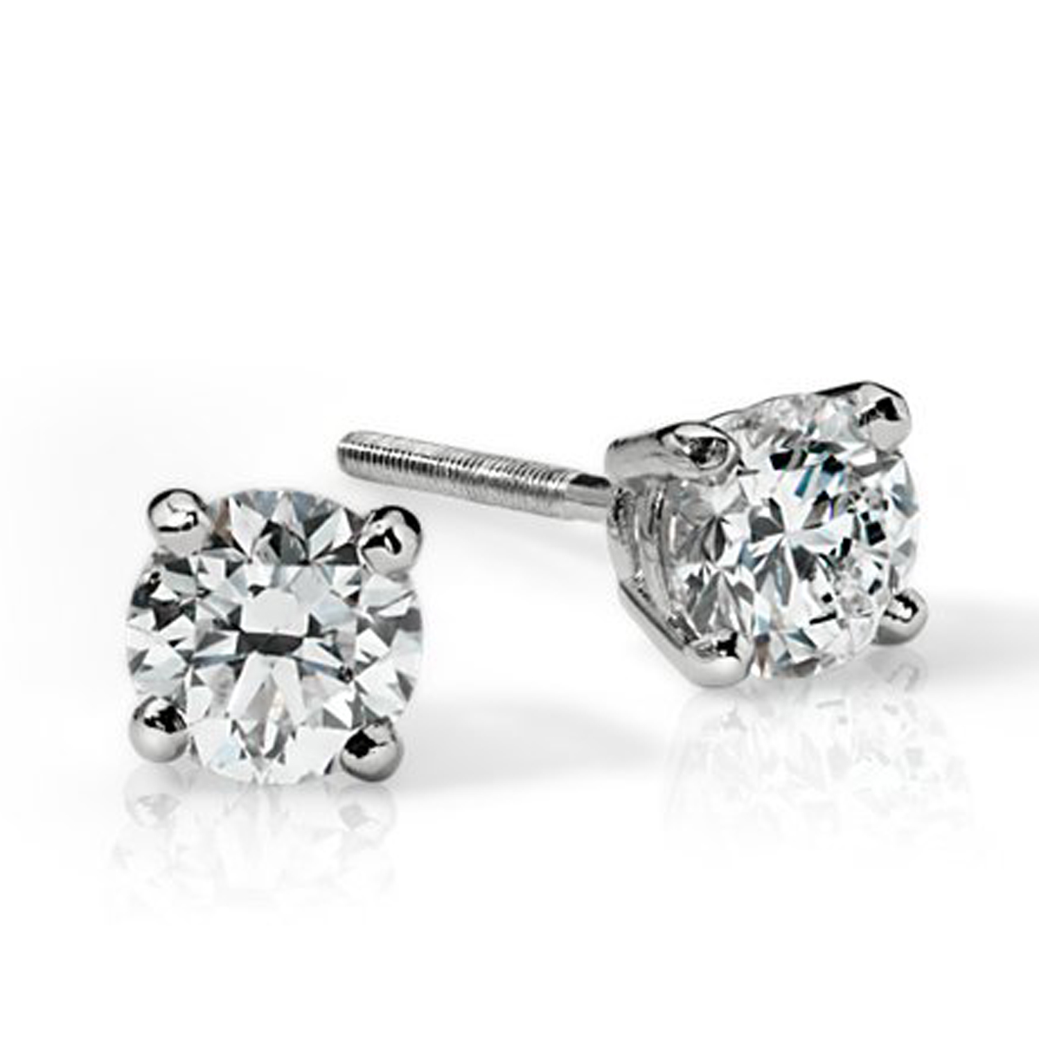 STUD75 14K YG OR WG 0.75 CT DIAMOND EARRINGS SI  G IN COLOUR WITH CERTIFICATE