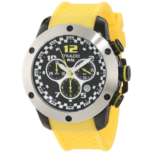 MW2-6313-095 Mulco Mens Prix Yellow Band Black Dial