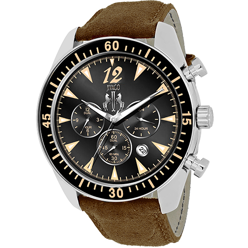 JV4513 Jivago Mens Timeless Brown Band Black Dial